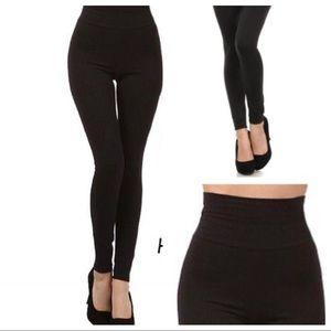 Pants - High-Waisted Fleece Lined Legging
